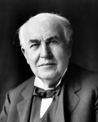 Thomas Edison, inventor of  the commercially practical incandescent lightbulb (among other things) and natty dresser.